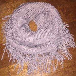 Infinity fringe scarf